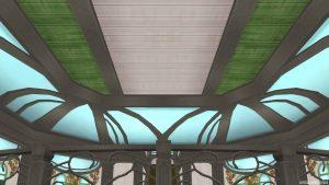 【魅惑の花園の家】2階の天井
