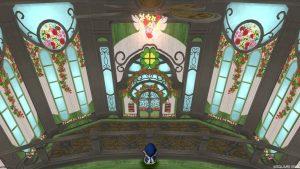 【魅惑の花園の家】バルコニーから見た1階