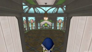 【魅惑の花園の家】2階へおりる途中の室内