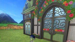 【魅惑の花園の家】常夏の楽園テラスの扉(斜め左)