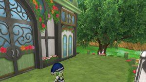 【魅惑の花園の家】常夏の楽園テラスの扉(斜め右)