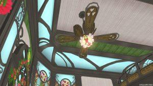 【魅惑の花園の家】1階の天井