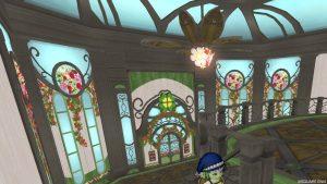 【魅惑の花園の家】1階 2階へのぼった直後(後ろ)