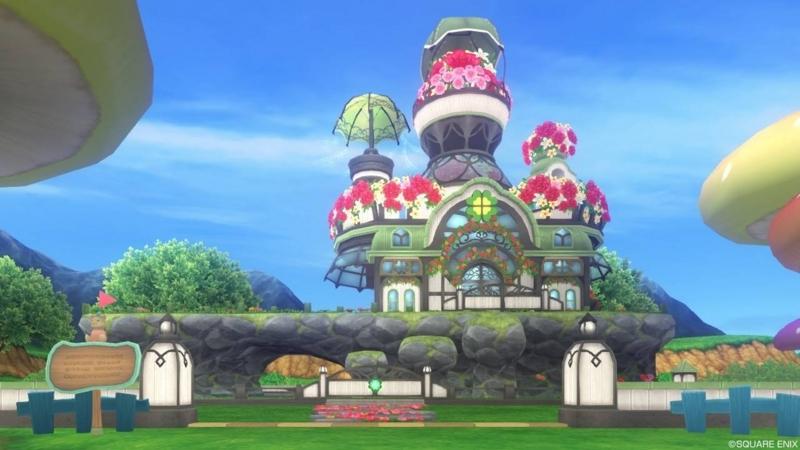【パラダイスな家】家の外観 魅惑の花園の家 もとの色(昼)