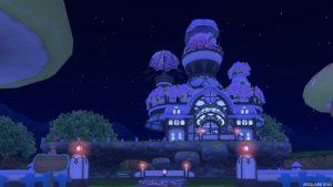 【パラダイスな家】魅惑の花園の家 むらさき(夜)