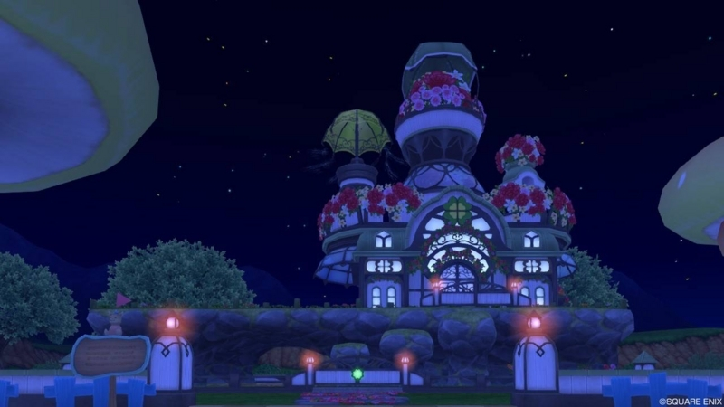 【パラダイスな家】魅惑の花園の家 もとの色(夜)