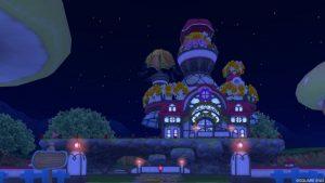 【パラダイスな家】魅惑の花園の家 赤(夜)