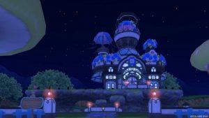【パラダイスな家】魅惑の花園の家 黒(夜)