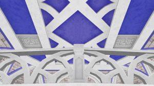 【虹の宮殿の家】2階の天井