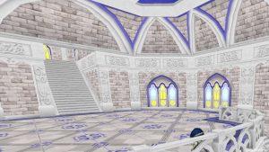 【虹の宮殿の家】2階 バルコニーから2階を眺めた室内