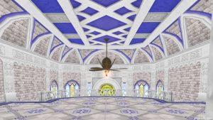 【虹の宮殿の家】2階 3階の階段手前から見た室内