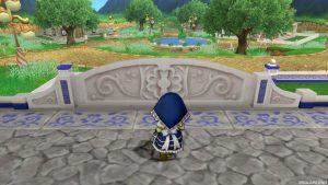【虹の宮殿の家】テラス テラスに出た直後