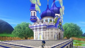 【虹の宮殿の家】テラス 正面角から見た外観