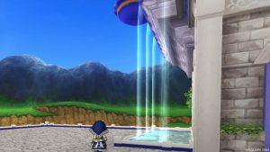 【虹の宮殿の家】テラスの滝