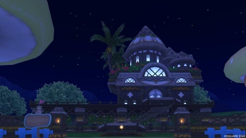 【パラダイスな家】常夏の楽園の家 もとの色(夜)