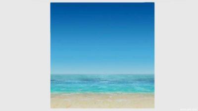 浜辺かきわり・1
