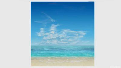 浜辺かきわり・2