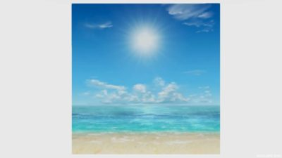 浜辺かきわり・3