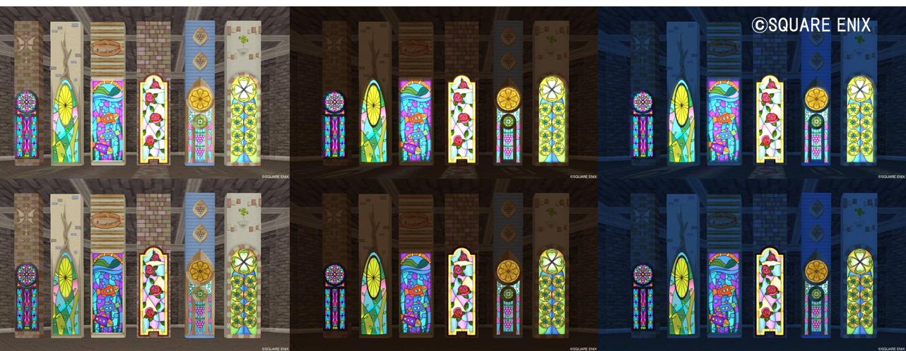 4等「正統派ステンドグラス / ツタのステンドグラス / 海のステンドグラス バラのステンドグラス / 果物のステンドグラス / 白詰草のステンドグラス」