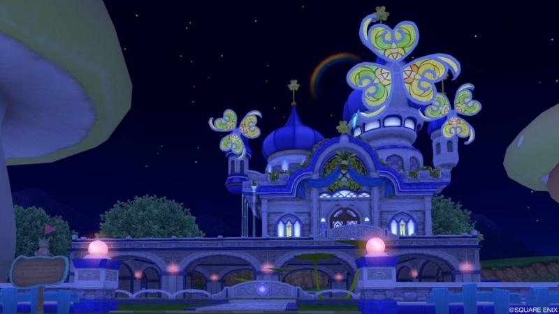 【パラダイスな家】虹の宮殿の家 もとの色(夜)