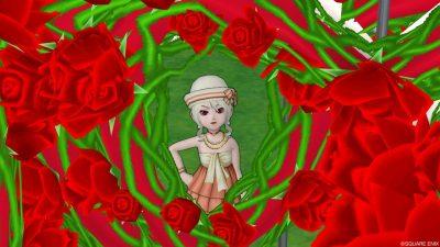 キューピットの噴水で!?薔薇フレームを撮ってみた!