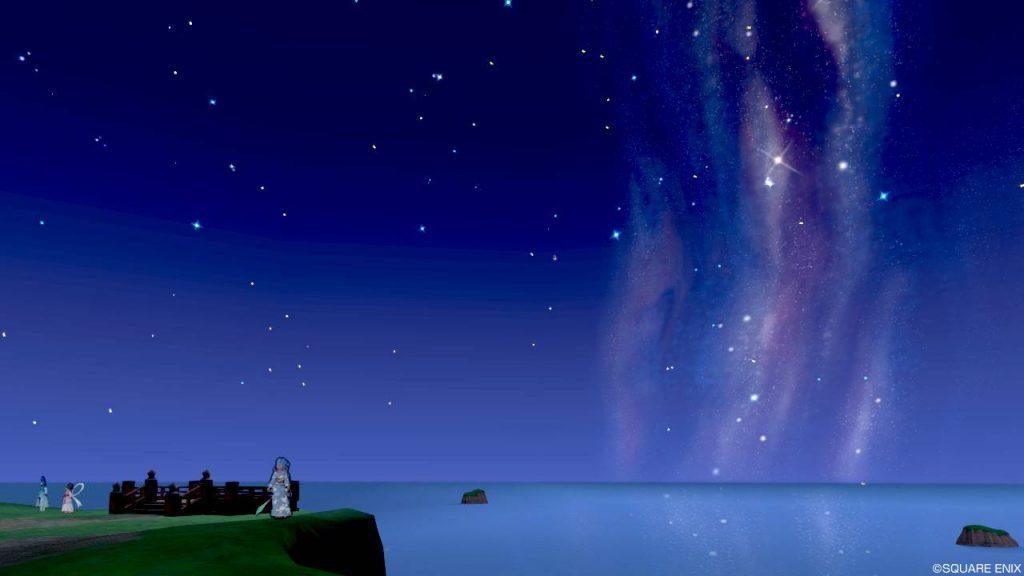 七夕の里 高台 右真横の空と海