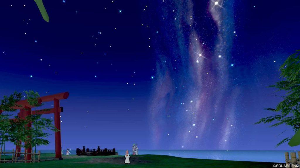 七夕の里 高台 右ベンチからの星空