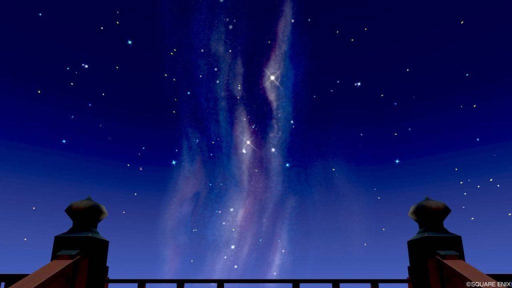 七夕の里 星見の台 見上げた星空