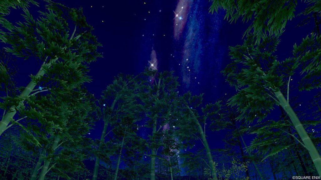 七夕の里 旅の扉 竹と天の川