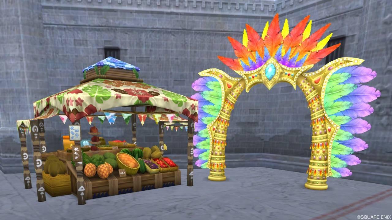 庭具「夏野菜の屋台 / カーニバルのアーチ」