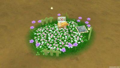 【ドラクエ10】庭具「お花畑の庭用ベッド」