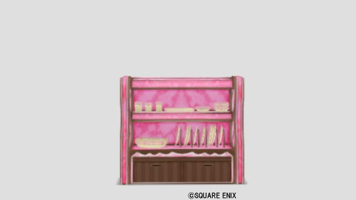 苺お菓子の食器棚