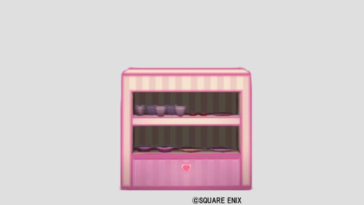 ハートの食器棚・桃