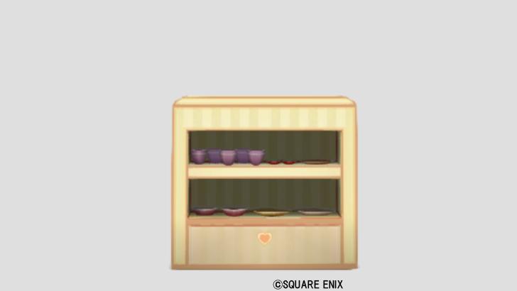 ハートの食器棚・黄