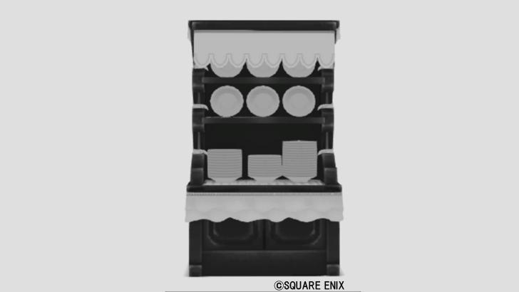 ゴシック調の食器棚