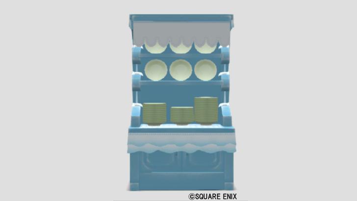 マリン調の食器棚