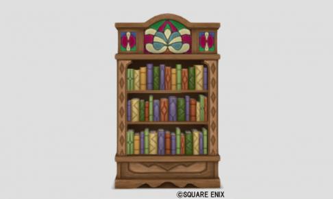 色飾りタイルの本棚