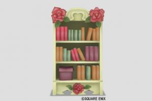 赤バラの本棚