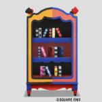 トランプ柄の本棚・赤