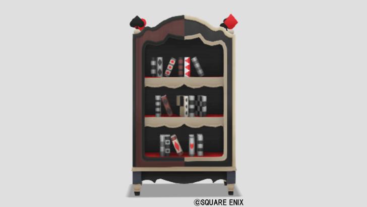 トランプ柄の本棚・黒