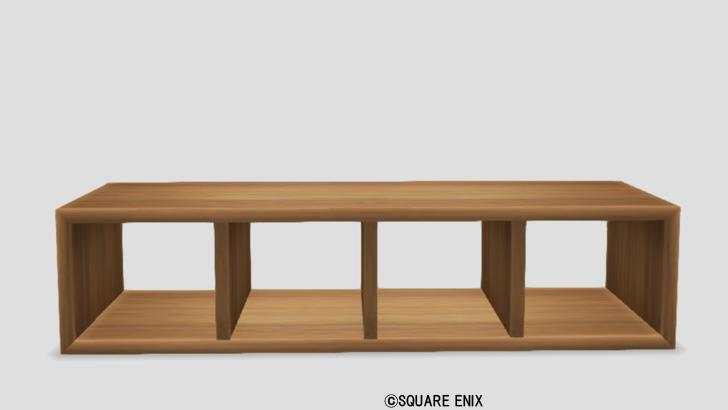シンプルな木の棚