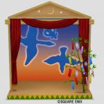 人形劇の七夕背景セット
