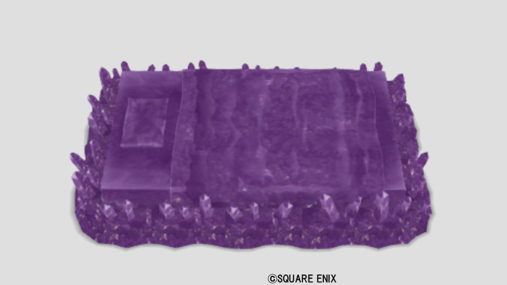 紫水晶のベッド