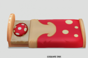 赤キノコのベッド