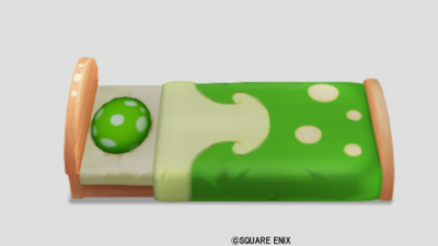 緑キノコのベッド