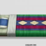 色飾りタイルのベッド