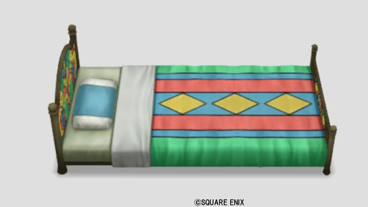 光飾りタイルのベッド