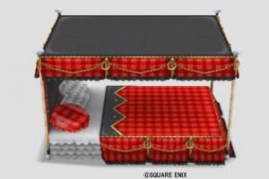 チェックのベッド・赤