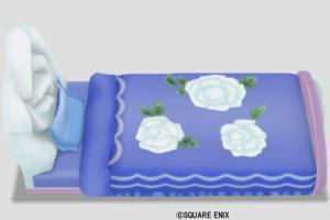 白バラのベッド
