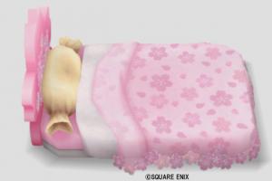 桜花のベッド